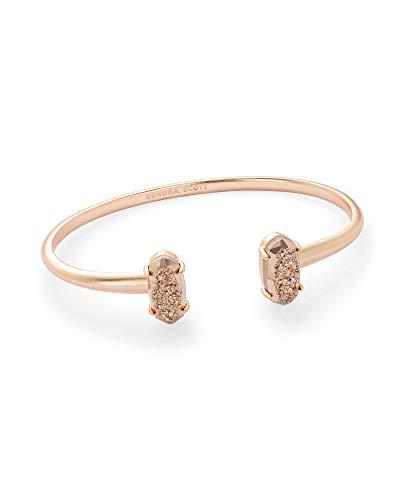 Kendra Scott Edie Cuff Bangle Bracelet in Rose Gold Drusy & Rose Gold