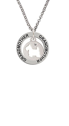 - Scottie Dog Silhouette - Grandmother Affirmation Ring Necklace