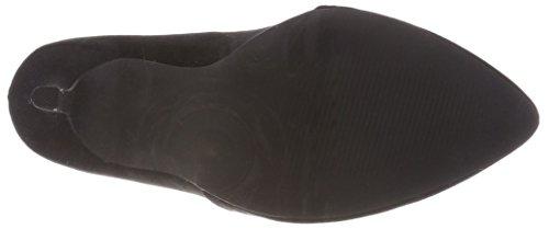 Tacco Bianco Col Loafer Scarpe black 10 Chiusa Nero Pump Donna Punta 100 WBXprW