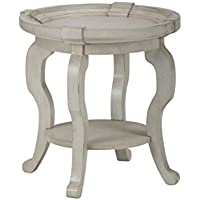 Jofran: 540-3, Sebastian, Round End Table, 24W X 24D X 24H, Sebastian White Finish, (Set of 1)