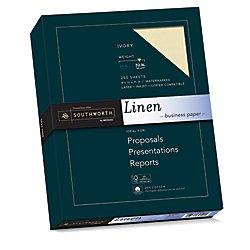 Southworth Linen Business Paper, Ivory, 32 Pounds, 250 Count ()