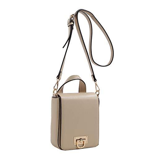 Isabelle Women's Foldover Boxy Crossbody Bag (Light Taupe)