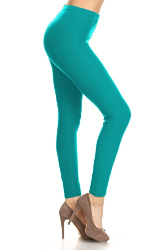 Leggings Depot Ultra Soft Basic Solid Plain Best SELLER