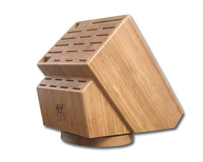 Zwilling J.A. Henckels 35101-840 26-Slot Bamboo Swivel Knife Block