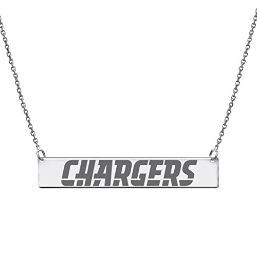 Silver Pendant, NFL San Diego Chargers Bar Necklace