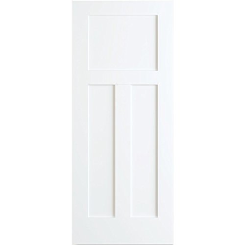 1+2 Panels Door, Kimberly Bay Interior Slab Shaker White (30x80)