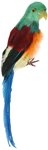 Darice Bird 12 inch, Feathered Parrot, 12