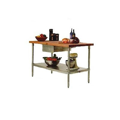 (Cucina Americana Prep Table with Wood Top Size: 60