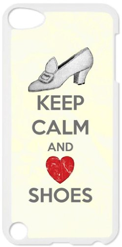Keep Calm and Love Shoes - White plastic snap on case - for the Apple iPod iTouch 4th - Cases 4th Generation Ipod Cheap