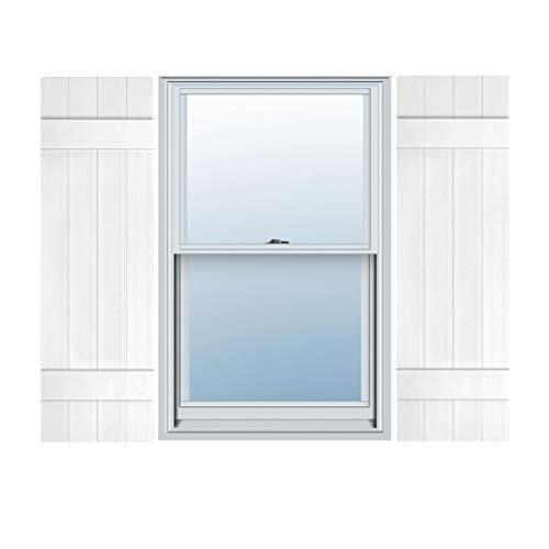 """Builders Choice EVB14035WH Shutters, 14"""" x 35"""", White"""