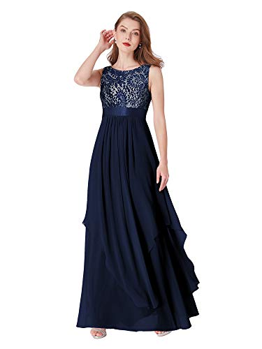 Ever-Pretty Womens Sleeveless Elegant Formal Black Tie Affair Dress 16 US Navy Blue