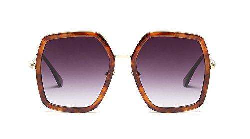 (Oversized Geometric Sunglasses for Women Fashion Chic Square Aviator Frame (Tortoise, 60))
