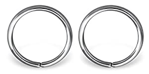 Via Mazzini 316L Stainless Steel No-Tarnish No-Rusting 8mm Clip-On Non-Pierced Nose Ring For Women And Girls (NR04933) 1 Pair