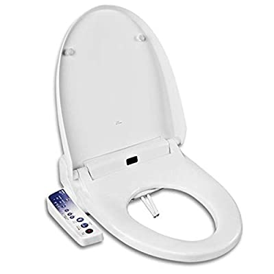 Intelligent toilet seat square household body cover smart toilet automatic flushing automatic heating toilet seat human body sensor seat heating toilet seat square toilet seat White intelligence