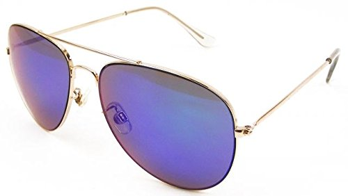 Anarchy Men's Air Boss Aviator Sunglasses,Gun,63 - Sunglasses Air