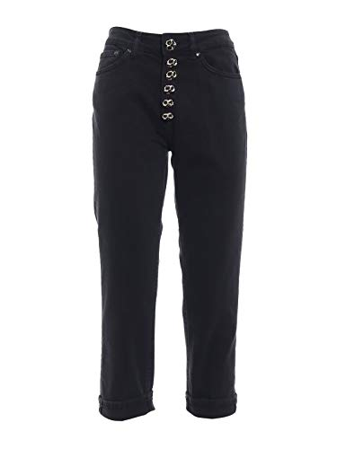 Noir Dp268bs009dr25dd999 Femme Dondup Coton Pantalon qxBz6SHRw