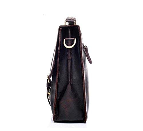 de Regalo Cuero los el Bandolera diarias Mejor Hombres Mensajero maletín Ocio Cartera Bolso del Vendimia del BAO de la Necesidades de qtwRInS