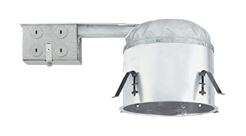 NICOR Lighting 6-Inch IC Rated Shallow Recessed LED Remodel Housing with IDEAL Connection (17014AR-LED-ID) ()