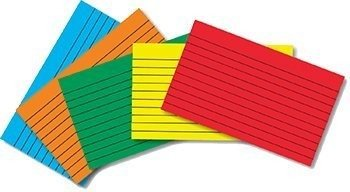 Top Notch Teacher Products TOP3663 Border Index Cards 4 X 6 Lined Primary Colors 75Ct by NTT ()