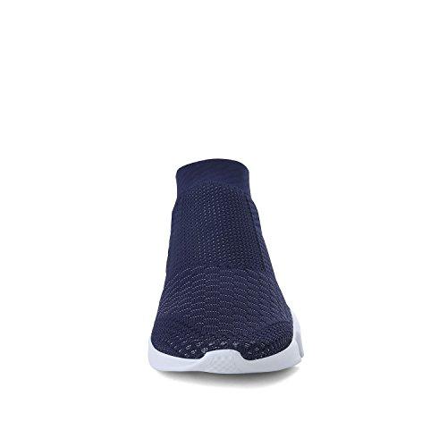 WXQ Männer Laufleicht Atmungsaktiv Lässige Sportschuhe Mode Turnschuhe Wanderschuhe Blau