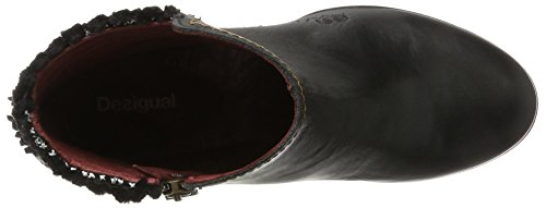 Damen Boots Shoes Schwarz Negro Exotic Chelsea Country Black Desigual qBPdwCqx
