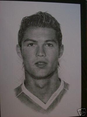 Cristiano Ronaldo Pencil Picture Amazon Co Uk Kitchen Home