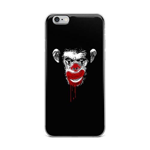 iPhone 6 Plus/6s Plus Case Anti-Scratch Creature Animal Transparent Cases Cover Evil Monkey Clown Animals Fauna Crystal Clear]()
