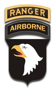 US Army 101st Airborne w/ Ranger Tab Decal Sticker 3.8