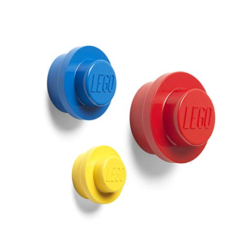 LEGO 40161732 Wall Hanger Set (Yellow, Bright Blue, Red) -