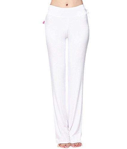 Mullsan Women's Loose Modal Prada Running Yoga Pants Fitness Trousers Boot-Cut (M, - White Pradas