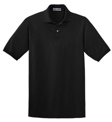 Jerzees Herren Poloshirt Schwarz schwarz XL