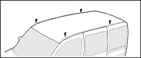 VDP kompatibel mit Opel Vivaro 2001-2014 Dachtr/äger XL Pro 200 Lastentr/äger 2 Stangen