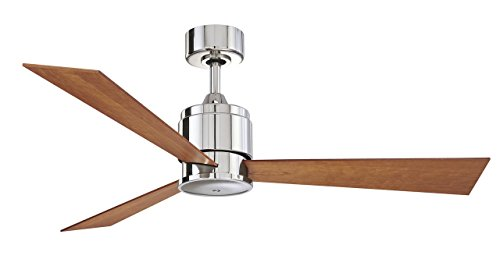 Fanimation Zonix - 54 inch - Polished Nickel with Cherry/Walnut Reversible Blades and Wall Control - FP4620PN