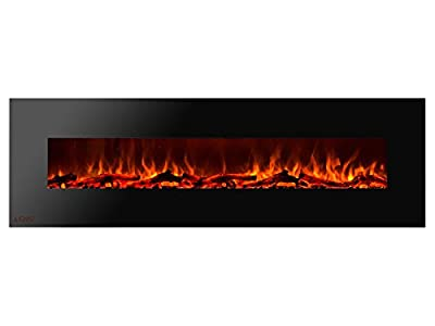 Ignis Royal 72 inch Wall/Recessed Mount Electric Fireplace with Logs c SA us Certified