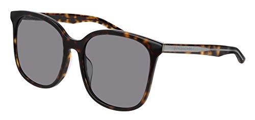 Balenciaga BB0018SK Sunglasses 003 Grey/Silver Mirror Lens 56 mm