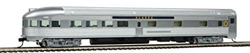 85' Budd Observation - Ready To Run -- Alaska Railroad (silver, blue)