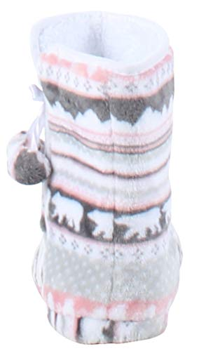 Pictures of PajamaMania Slipper Boots with Rubber Sole Bear 5