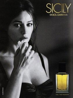 Sicily Dolce Gabbana (--Scented PRINT AD-- With Monica Bellucci For 2004 Dolce & Gabbana Sicily)