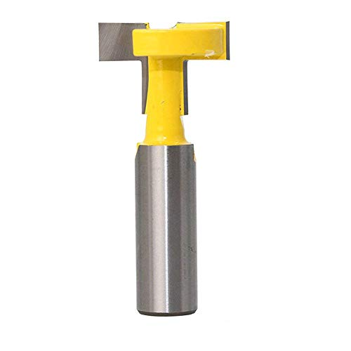 Eyech 1/2 Inch Shank Straight T Slot Router Bit & T-Track Slotting Cutter Carbide Wood Milling Cutter Woodworking Drill Bit Tool ()