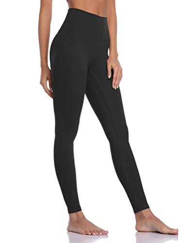 Colorfulkoala Women's Brushed Buttery Soft High Waisted Leggings Full Length Yoga Pants (M, Black)