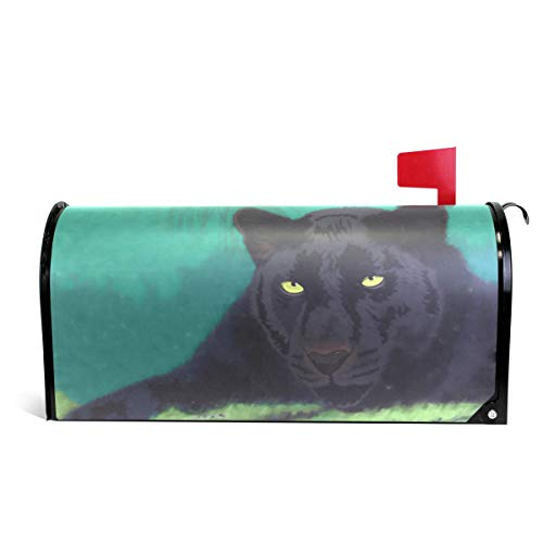 - senya Magnetic Large Size Mailbox Cover Wild Cats Panther, Oversized