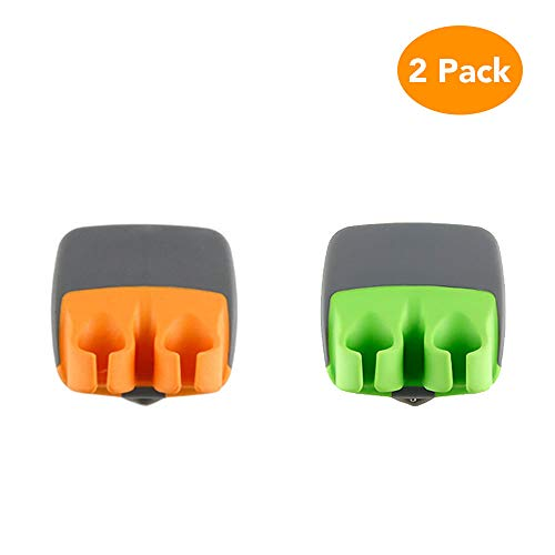 CocoKool 2 PCS Vegetable Peeler, Durable Palm Peeler, Sharp Blade Finger Potato Peeler with Comfortable Rubber Finger Grip, Palm Peeler Vegetable Peeler for Pumpkin, Carrot, Cucumber, Potato and More
