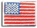 アメリカ 国旗 アイロン ワッペン ミニ 約33x24mm