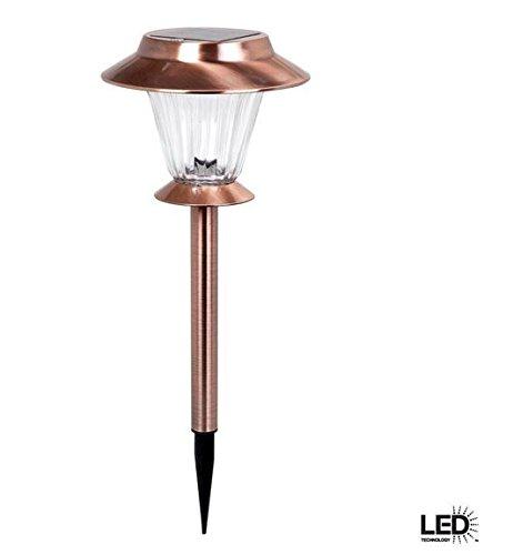 Hampton Bay Antique Copper Solar LED Walk Light Set (6-Pack) (Hampton Stores)