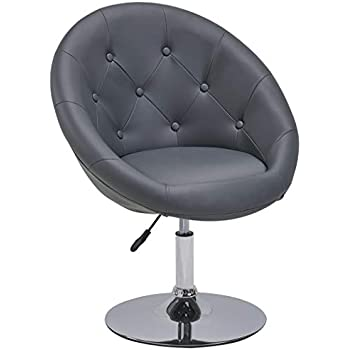 Admirable Amazon Com Round Swivel Accent Lounge Chair With Tufted Machost Co Dining Chair Design Ideas Machostcouk