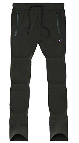 Youth No Pocket Sweatpant - FunnySun Hiking Pants Men,Outdoor Quick Dry Elastic Drawstring Active Pants,63069 Armygreen XXL