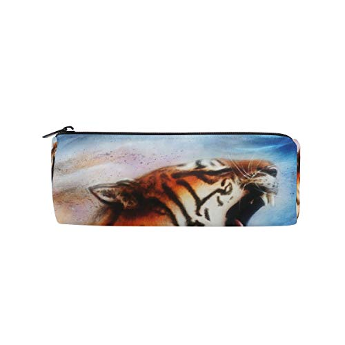 Tigers College Womens Wallet - Pencil Case Tiger Pen Bag Students Stationery Storage Pouch, Makeup Pouch Wallet for Women