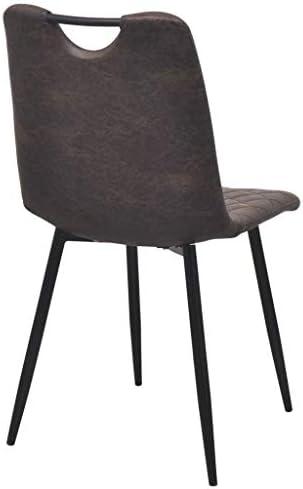 Roderick Irving Lot de 2 chaises de Salle à Manger en Cuir synthétique Marron foncé 44,5 x 54,5 x 87,5 cm
