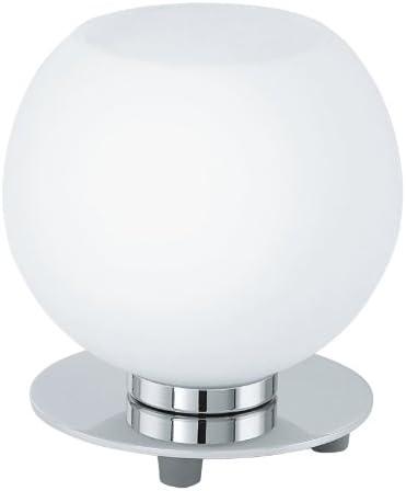 Acier Chrome E14 Verre EGLO 90904 Lampe de table