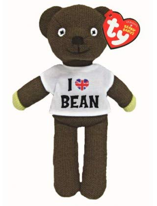 Mr Bean Teddy Bear Plush (Ty Beanie Mr Bean's Teddy in a T-Shirt, TV Favourite and Perfect Plush!)